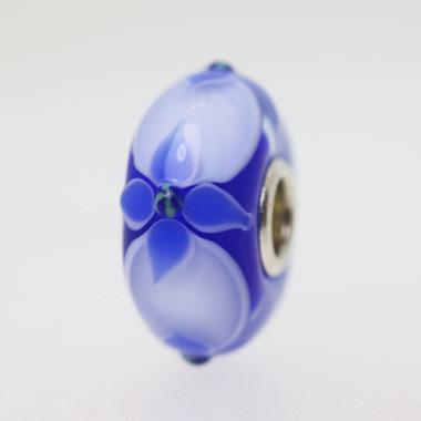 Blue Flower Bead