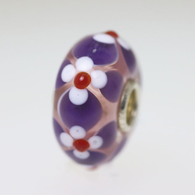 Purple Flower Bead