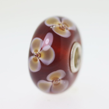 Brown Flower Bead
