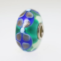 Aqua Base Bead With Glitter Designs