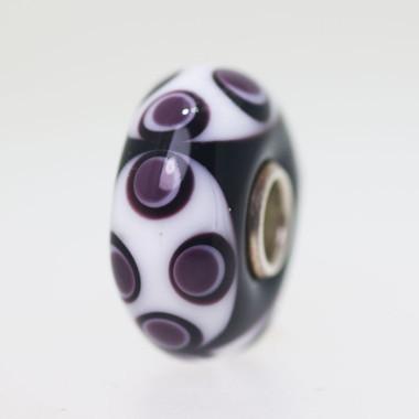 Black & White Opaque Unique Bead