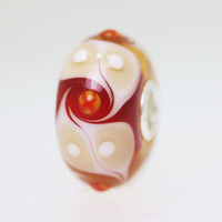 Red & Beige Unique Bead