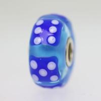 Blue Dice Unique Bead