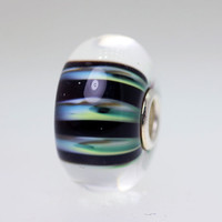 Green & Black Stripe Bead