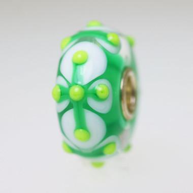 Green & White Unique Bead