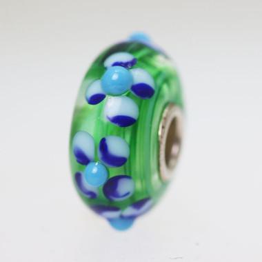 Green Based Flower Bead