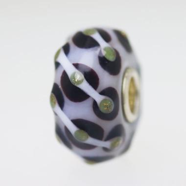 Brown & Whitee Unique Bead