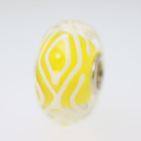 Yellow & White Unique Bead