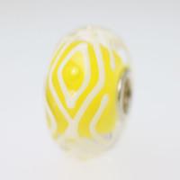 Yellow & White Unique Bead
