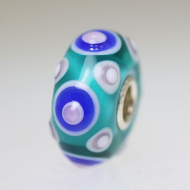 Aqua and Blue Unique Bead
