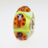 Ladybugs On Green Bead