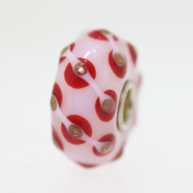 white and red bead