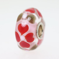 Pink Based Hearts Bead