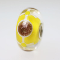 Yellow & Glitter Unique Bead
