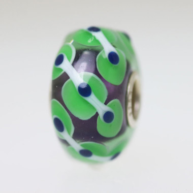 Purple & Green Unique Bead