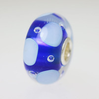 Blue & White Bubble Bead