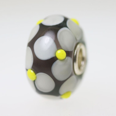 Grey Flower Bead