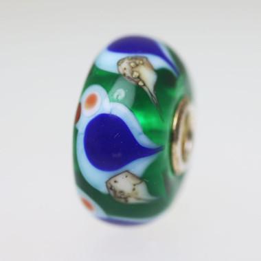 Green Bird Bead