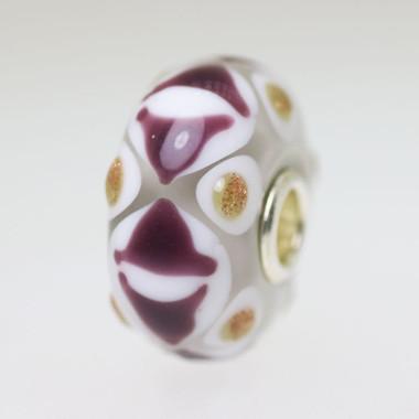 Brown & Glitter Unique Bead