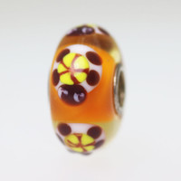 Unique Orange Turtle Bead