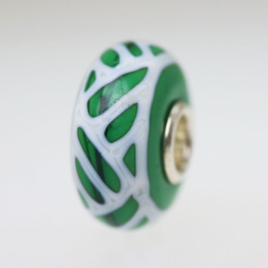 Green & White Bead