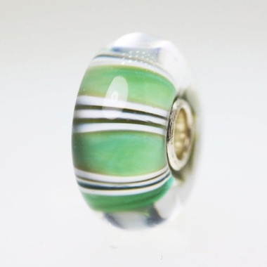 Green Stripe Bead