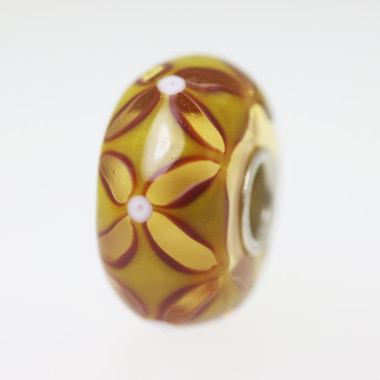 Warm Yellow Brown Bead