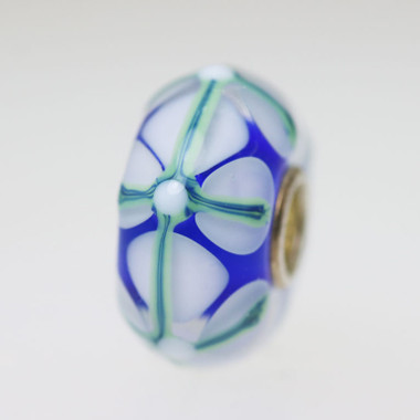 Blue Stained Glass Bead