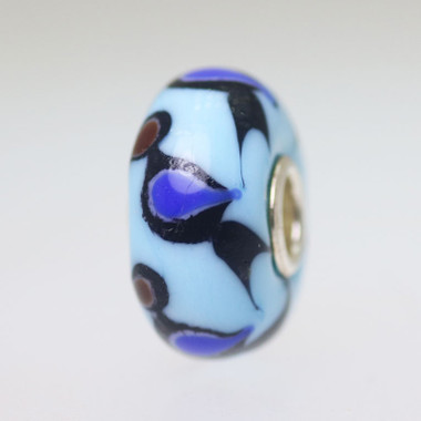 Blue Based Bird Unique Bead
