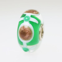 Green & Glitter Unique Bead