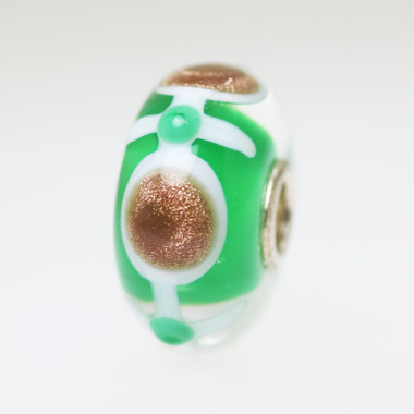 Green & Glitter Unique Bead