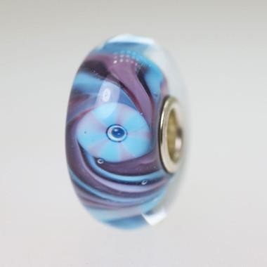 Purple and Light Blue Bead