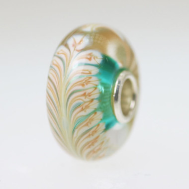 Aqua Feather Bead