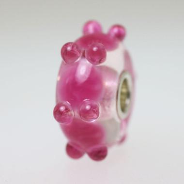 Pink Caterpillar Bead