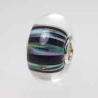 Black Stripe Unique Bead