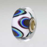 White & Blue Unique Bead