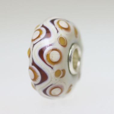 Ivory Opaque Unique Bead