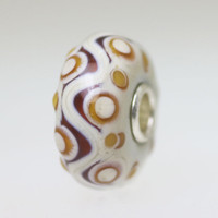 Ivory Opaque Unique Bead