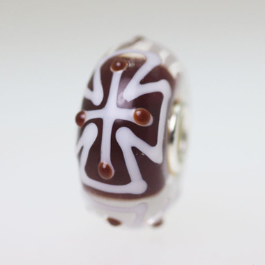 Brown & White bead