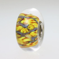 Warm Yellow Abstract Bead