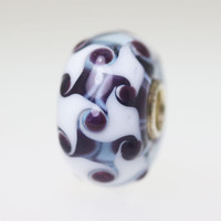 Light Blue & Black Harlequin Bead