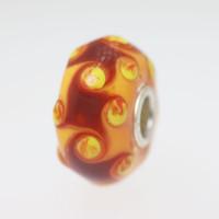 Orange Harlequin Unique Bead