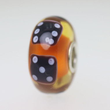 Orange Dice Bead