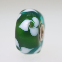 Green Flower Unique Bead