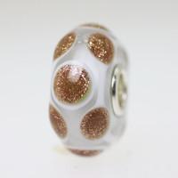 Gold Glitter Spot Bead