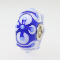 Blue & White Unique Bead