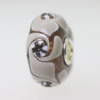 Grey and Glitter Unique Bead