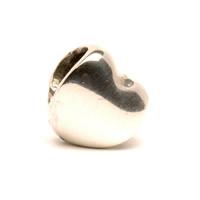 Heart, silver Trollbead