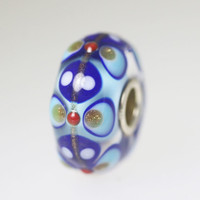 Blue & Glitter Unique Bead
