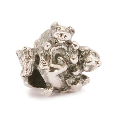 Family of Puppies Silver Trollbeads